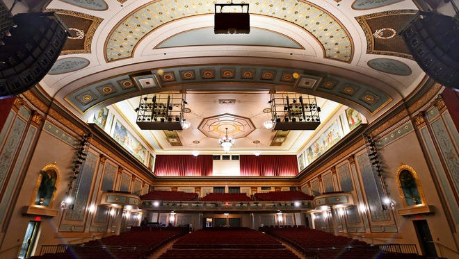"""The Strand Theatre, as seen from the stage before William Penn's production of Lin-Manuel Miranda's """"In the Heights"""" Saturday, April 9, 2016, at the Strand-Capitol Performing Arts Center."""