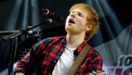 Ed Sheeran performs during 102.7 KIIS FM's 2014 Wango Tango at StubHub Center in Los Angeles.