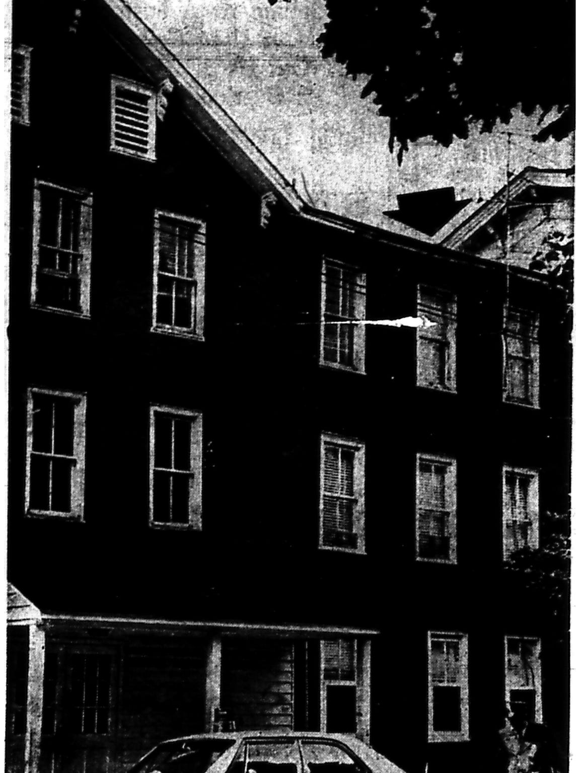 The apartment building at 770 Maple St., where Peggy