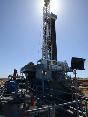 An oil rig near Dacono is pictured during a 2014 oilfield tour hosted by Anadarko Petroleum Corp. and Coloradans for Responsible Energy Development.