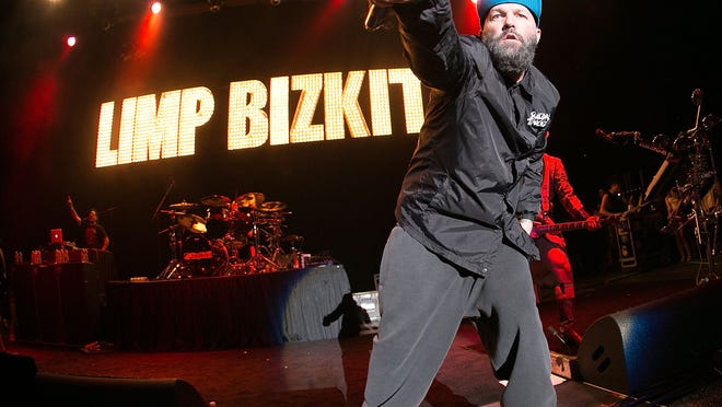 Fred Durst performing with Limp Bizkit JUST this weekend. (Gabriel Olsen/FilmMagic)