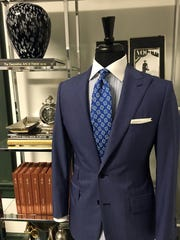 A custom men's suit inside Philippe Haas' Bespoke Tailoring.