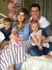 Carson, Everly Hope, Erin, Chad and Brooklyn Paine