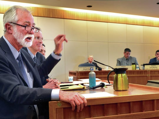 New Mexico Supreme Court Justice Charles Daniels testifies in favor of a proposed constitutional amendment on bail.