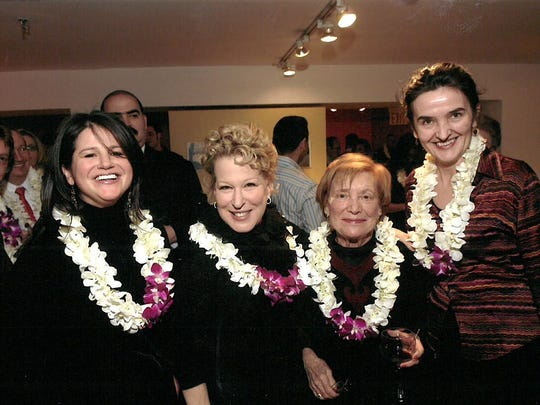 Virginia Sloane, second from right, at an event  with Bette-Midler, second from left.