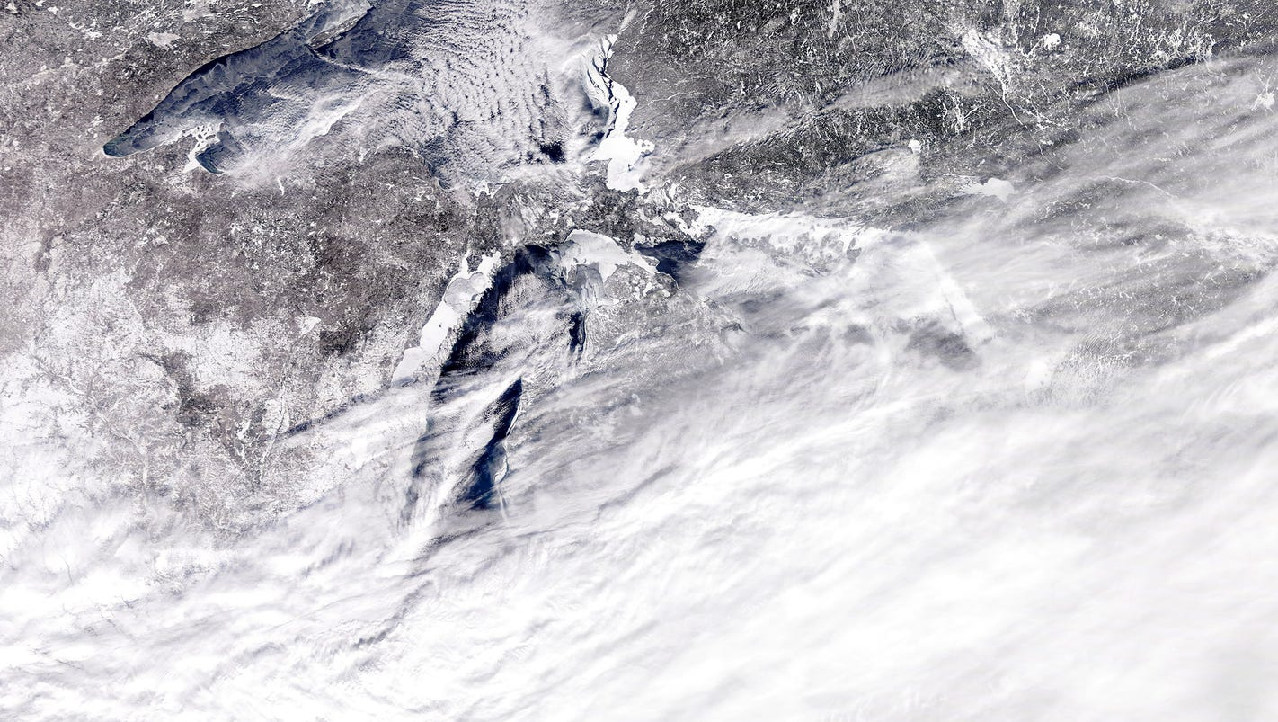 Where's Michigan? Massive snowstorm looks even crazier from outer space