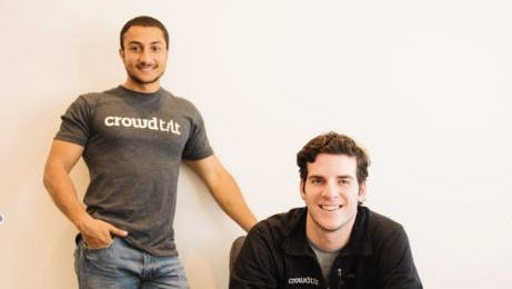 Khaled Hussein (left) and James Beshara, co-founders of Crowdtilt.
