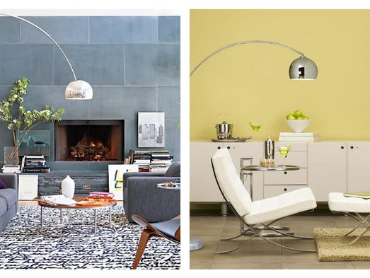 <b>Floor Lamp</b> | <b>Splurge:</b> Arched stainless-steel Arco floor lamp. The original iconic Midcentury Modern piece sells for $2,995 at Design Within Reach. | <b>Steal:</b>Lamps Plus sells a slightly smaller version of the modern classic. Their George Kovacs polished chrome arc floor lamp is $360.