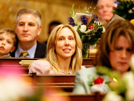 Rep. Dawn Keefer, R-Dillsburg, during the swearing-in