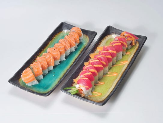 The Philadelphia Roll and Crazy Tuna Roll from Yogis