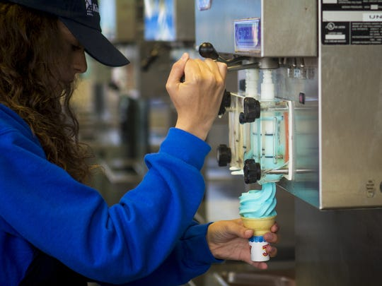 Kings Island's iconic blue ice cream has been served at the amusement park for decades.
