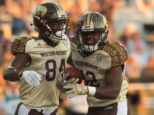 Western Michigan wide receiver Corey Davis (84) and