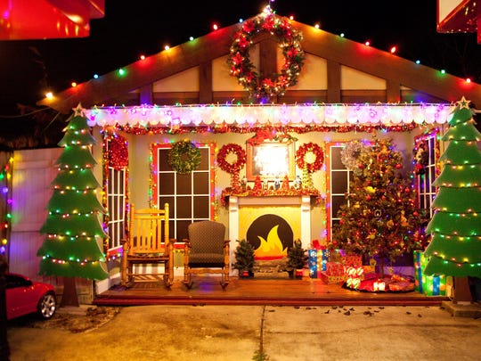 Mason and Debbie LeJeune started decorating their property 18 years ago and have grown their display each year.