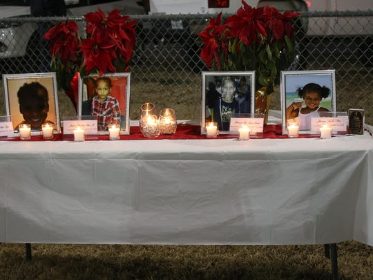 Family and friends gathered at Legion Field for a candlelight vigil in rememberance of the four children who died in a house fire. The vigil was held on Dec. 16, 2016 in Springfield, Tenn.