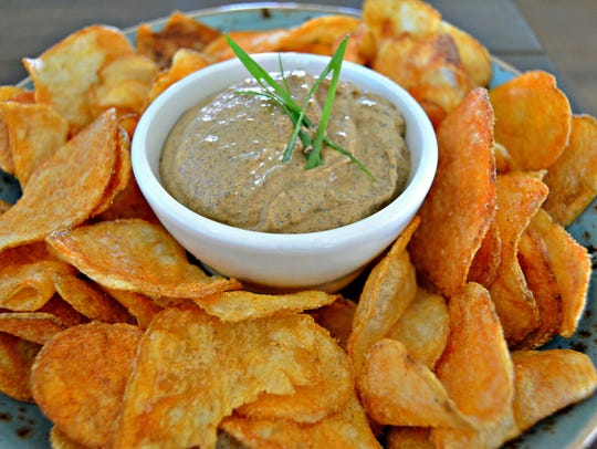 The chips & dip at Red's Bar & Grill.