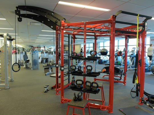 A full fitness gym in the building at Commvault's new headquarters in Tinton Falls.