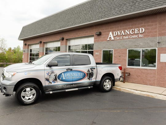 Jason and Janet Bigelow own and operate Advanced Tire and Auto Center on Route 35 in Aberdeen.