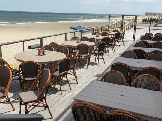 Mister C's restaurant in Allenhurst offers outdoor dining with a view of the ocean.