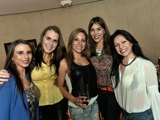 Partying upstairs at Gotham on Broad Street in Red Bank are (left to right) Gina Ferraro of Middletown, Aimee Duran of Long Branch, Amber Cowan of Long Branch, Paloma Duran of Long Branch and Analia Soraide of Red Bank.