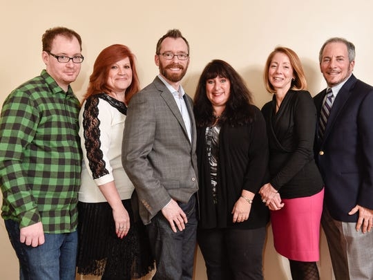 The Jersey Shore PFLAG board is (left to right) Gregory