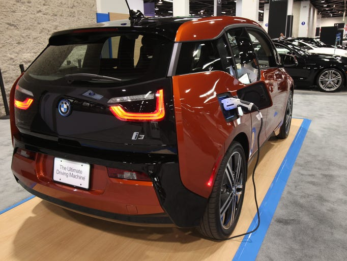 The charging port for the 2014 BMW i3