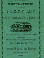 Dog River Valley Fair Premium List booklet cover from 1883,
