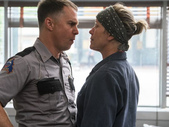 Dixon (Sam Rockwell) and Mildred (Frances McDormand)