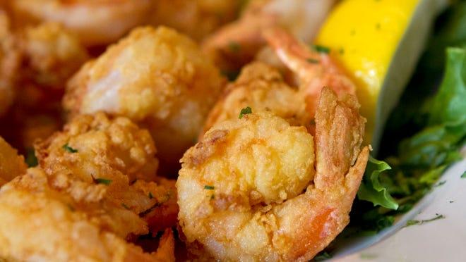 Fried shrimp from Skip One.
