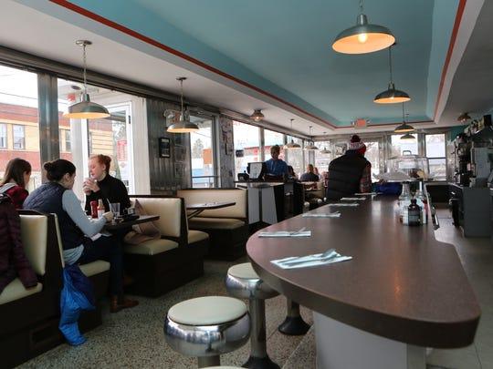 The interior of the Oakhurst Diner on Main Street in