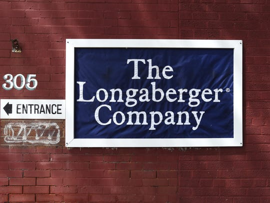 A flag marks the home of Longaberger's manufacturing