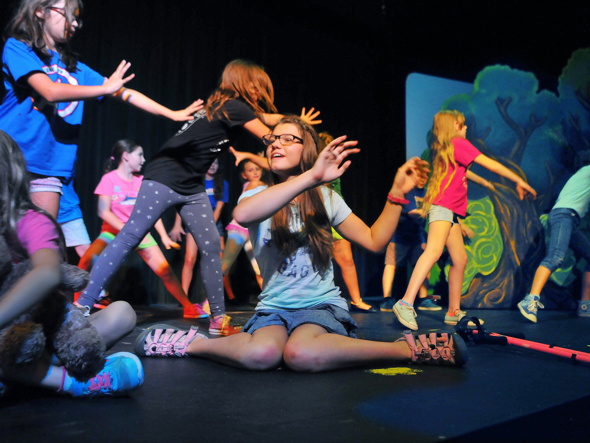 "Olivia, at center, appears in ""Disney's Peter Pan Jr."" at the Surfside Playhouse in Cocoa Beach."