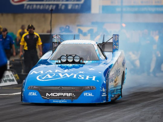 Tommy Johnson Jr. won the Funny Car event Sunday at
