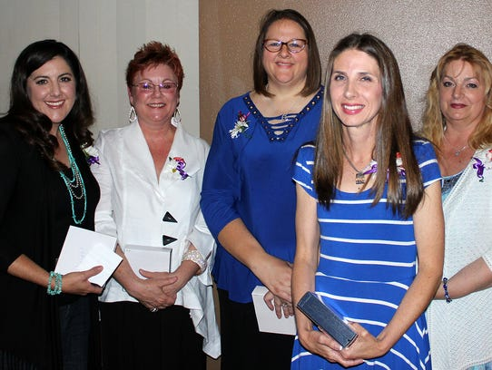 From left: Teacher of the year finalists Rachel Knight,