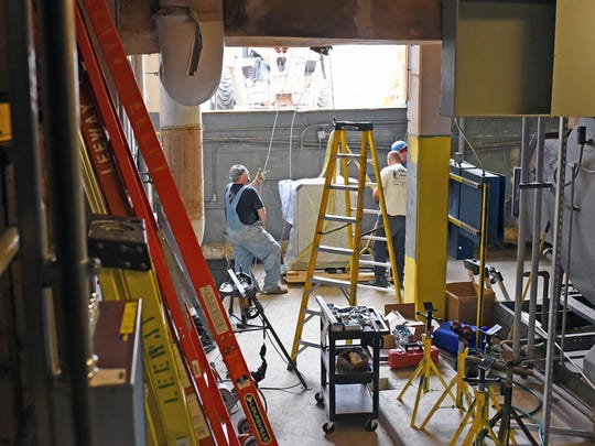 Pieces to the new water heater are being installed and should be ready for the new school year at Vineland High School.