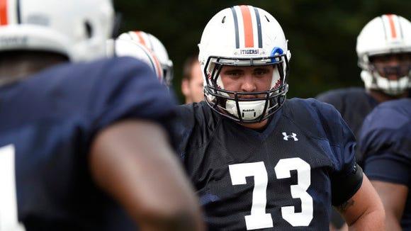 Austin Golson during Auburn football fall camp on Friday, August 7, 2015 in Auburn, Ala.