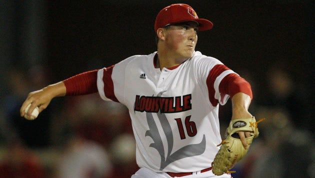 Kyle Funkhouser of the Louisville Cardinals signed with the Tigers Tuesday.