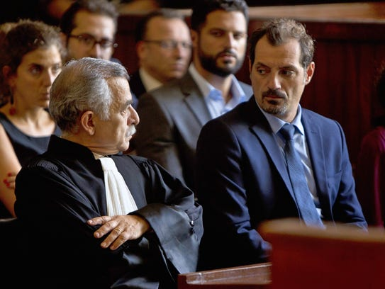 """Camille Salameh (left) and Adel Karam star in """"The"""