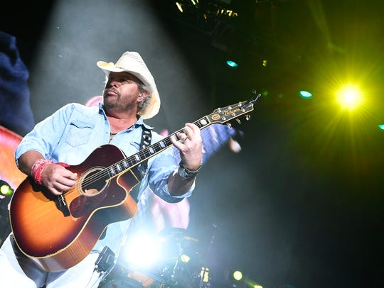 Toby Keith performs in concert at Ascend Amphitheater