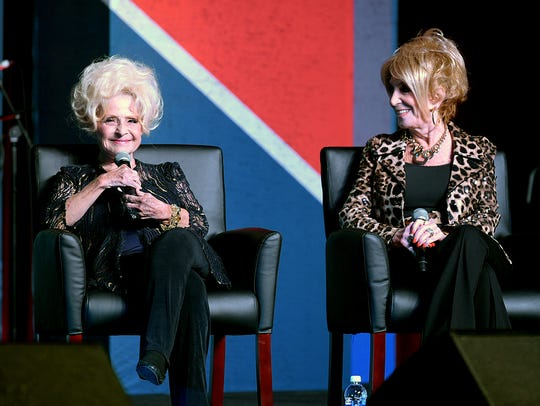 Brenda Lee, left, and Jeannie Seely, along with Holly