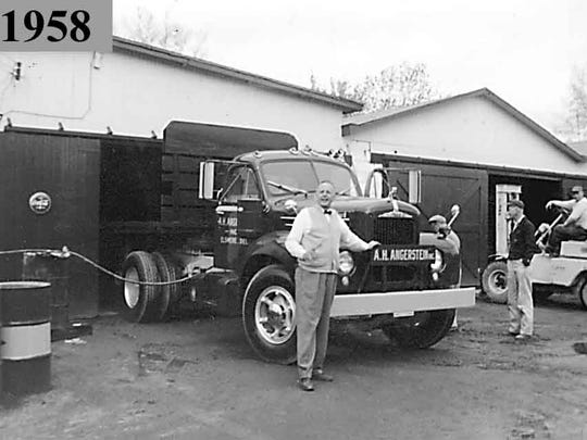 The late Albert H. Angerstein Jr. at his Elsmere business.