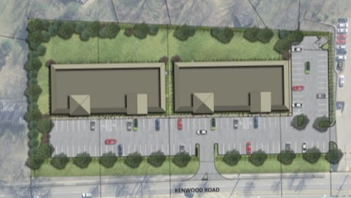 Here's a schematic of office buildings Myers Y. Cooper wants to build on Kenwood Road in Sycamore Township.