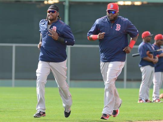 Hanley Ramirez, left, and David Ortiz look to go from