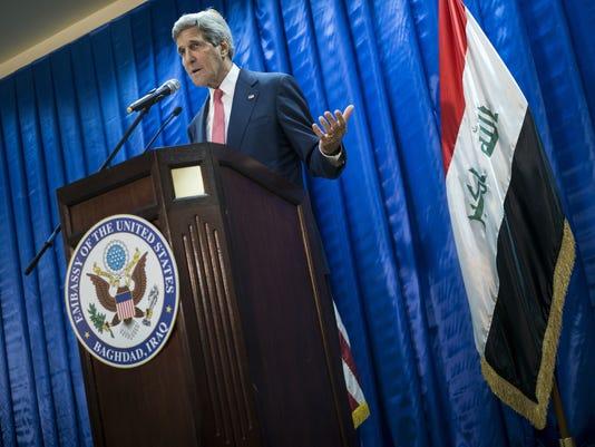 Mideast Iraq US Kerry