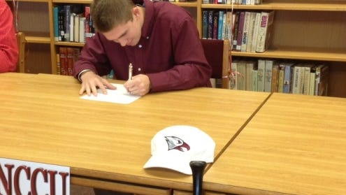 West Henderson senior Mitchell McCrary has signed to play college baseball for North Carolina Central.