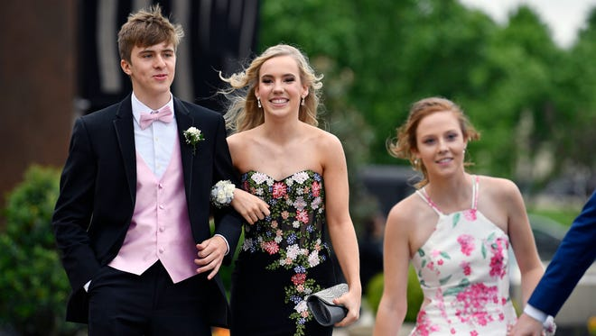 Students and their guests attend Eastern York's prom at Eden Resort Friday, May 18, 2018, in Lancaster County.