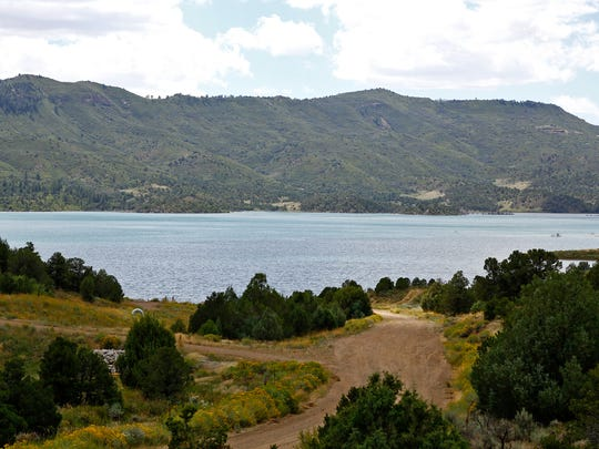 Lake Nighthorse, pictured in a file photo from Nov. 2016, located southwest of Durango, Colo., stores water as part of the Animas-La Plata Project.