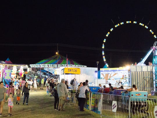 The Sumner County Fair lights up the night at the Sumner