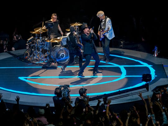 U2 rock the Prudential Center in Newark NJ on their