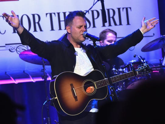 Singer Matthew West performs during Sam's Place - Music