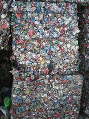Aluminum cans are highly valued recyclables.